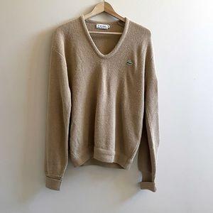 Vintage Lacoste V neck sweater SIZE XL